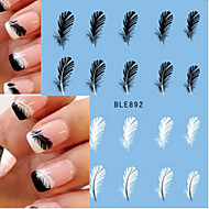 10pcs/set Naljepnica za prijenos vode Naljepnica s noktima Nail Decals Naljepnice Nail Art Design