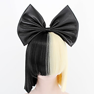 Synthetic Wig SIA NEW  Big Bow and hairnet Black Half Blonde Sia Styling Party Wigs