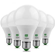 ywxlight®9w e26 / e27 led球根球18 smd 5730 700-850 lm暖かい白冷白色装飾dc 12 ac 12 ac 24 dc 24 v 5pcs