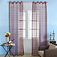 Et panel Window Treatment Rustikk Neoklassisk Europeisk , Solid Stue Polyester Materiale Gardiner Skygge Hjem Dekor For Vindu