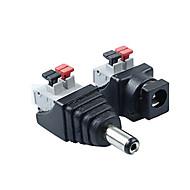 ZDM 1pair 2,1 x 5,5 mm likestrøm malefemale-kontakten kortkontakt plugg for ledede lyslist