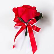 Brudebuketter Buketter Rose I Revers Andre Kunstig blomst Bryllup Fest / aften Materiale Blonde Satin 0-20cm