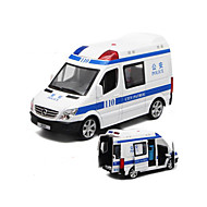 Litá vozidla Auta na zadní natahování Autíčka Policejní auto Sanitka Hračky Auto Kov 1 Pieces Dárek