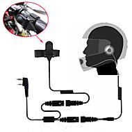 Fone de ouvido do fone de ouvido da cara completa da motocicleta para o walkie talkie de rádio de duas vias 365 baofeng kenwood wanhua