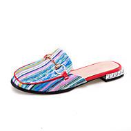 billige Sko i Store Størrelser-Dame-Tekstil-Lav hæl-Komfort Slingback Sko-Tøfler og flip-flops-Formell Fritid-Gul Rød Blå