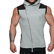 Majica s rukavima Muškarci - Aktivan Sport Jednobojni S kapuljačom Pamuk