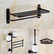 浴室用品セット / オイルドアンティーク加工ブロンズ アンティーク