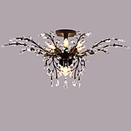 LightMyself 9 Lights Flush Mount Modern/Contemporary Traditional/Classic Rustic/Lodge Country Antique Brass Feature for Crystal LED MetalLiving Room