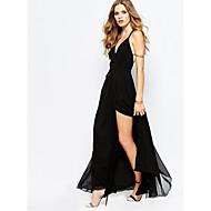 Mulheres Evasê Vestido - Clássico, Côr Sólida Mulher Sensual Cintura Alta Longo