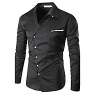 Pánské - Jednobarevné Plážové Vintage Košile Bavlna Klasický límeček