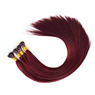 미리 본딩 된 i 팁 머리카락 확장 융합 인간의 머리카락 확장 burgandy 530 1g / 스탠드 18