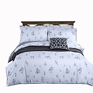 Duvet Cover Sets Floral 4 Piece Cotton Reactive Print Cotton 1pc Duvet Cover 2pcs Shams 1pc Sham