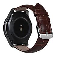 billiga Smart klocka Tillbehör-Klockarmband för Gear S3 Frontier Gear S3 Classic Samsung Galaxy Klassiskt spänne Läder Handledsrem