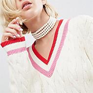 Dame Andre Form Personaliseret Håndlavet Euro-Amerikansk Imiteret Perle Kort halskæde Obsidian Imiteret Perle Imiteret Perle Kort halskæde
