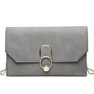 お買い得  クラッチバッグ&イブニングバッグ-女性用 バッグ PU ストラップ付きポーチ メタル ブラック / ピンク / グレー