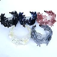 Čipka / Umjetno drago kamenje Trake za kosu / Cvijeće / Šeširi s Cvjetni print 1pc Vjenčanje / Special Occasion Glava