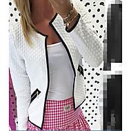 Χαμηλού Κόστους -Γυναικεία Σακάκι Απλός Καθημερινό-Μονόχρωμο Λαιμόκοψη V
