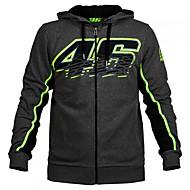 vr46 motogp motorsport závodní kapucí bunda černá pánská biker mikina