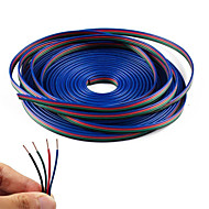 cheap Lamp Bases & Connectors-4 Color 20m RGB Extension Cable Line for LED Strip RGB 5050 3528 Cord 4pin