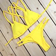 Dame Bandeau Bikini - Ensfarvet
