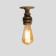 cheap Ceiling Lights-Loft Mini Retro Industrial Style Water Pipe Semi Flush Mount Light Restaurant Cafe Bar Light Fixture