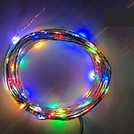 4.5v 2m 20led 3 aa batteriebetriebene dekorative LED Silberdraht Fee Lichterkette für Urlaub Hochzeit und Partys