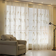 To paneler Window Treatment Rustikk Moderne Neoklassisk , Solid Soverom Lin/ Polyester Blanding Materiale Gardiner Skygge Hjem Dekor For
