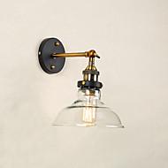 billige Vegglamper-Rustikk / Hytte / Moderne / Nutidig / Traditionel / Klassisk Vegglamper Glass Vegglampe 110-120V / 220-240V 60W / E27