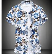 Klassisk krave Herre-Blomstret Gade Skjorte