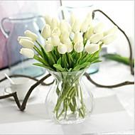 10 10 Ramo Couro Ecológico Toque real Tulipas Flor de Mesa Flores artificiais