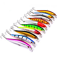 billiga Fiske-10 st Hårt bete Spigg Fiskbete Lock förpackningar Spigg Hårt bete Hårt Plast Plast Sjöfiske Kastfiske Spinnfiske Färskvatten Fiske