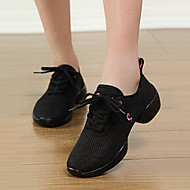billige Jazz-sko-Dame Moderne Tekstil Joggesko Utendørs Flat hæl Hvit Svart 5,5 cm Kan ikke spesialtilpasses