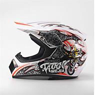 cheap Motorcycle & ATV Accessories-MEJIA Off-Road Motorcycle Racing Helmet Full Face Damping Durable Motorsport Helmet White/Orange Color