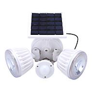 1 stk. Udendørs solbeskyttet dobbelthoved sikkerhed vægmontering haven lys pir bevægelsesføler lampe