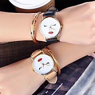 billige Quartz-Dame Quartz Armbåndsur Kinesisk Sej Læder Bånd Afslappet / Mode Sort / Hvid / Brun / Grøn / Gråt