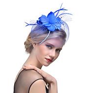 Dame Hat Helfarve Mesh Elegant Mode Hårclips - Perle