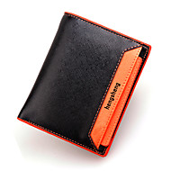 Men Bags PU Wallet Rivet for Casual Formal Outdoor Office & Career All Seasons Orange Yellow Navy Blue Green