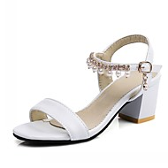 baratos Sapatos Femininos-Mulheres Sapatos Courino / Couro Ecológico Verão / Outono Conforto / Inovador / Sapatos clube Sandálias Caminhada Salto Robusto Ponta