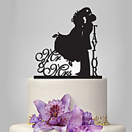 Cake Topper Garden Theme / Classic Theme Classic Couple Acrylic Wedding / Anniversary / Bridal Shower with 1 pcs OPP