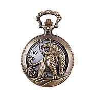 남성용 패션 시계 손목 시계 회중 시계 석영 합금 밴드 브론즈