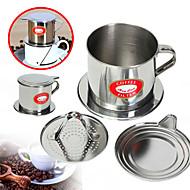 100 ml Edelstahl Kaffeefilter . Kaffee brühen Hersteller Wiederverwendbar mit Cup Ständer Manuell