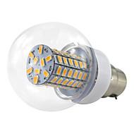 billige Globepærer med LED-1pc 6 W 500 lm B22 LED-kornpærer 69 LED perler SMD 5730 Varm hvit / Kjølig hvit 10-60 V / 1 stk. / RoHs