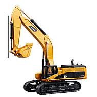 Støbejernsbiler Legetøjsbiler Legetøj Truck Entreprenørmaskiner Rendegraver Kvadrat Lastbil Gravemaskine Metallegering Gave Action & Toy