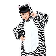للأطفال أزياء Cosplay بيجاما كيجورومي حمار الوحش بيجاما ونزي فلانل الصوف أسود / أبيض تأثيري إلى الأولاد والبنات ملابس للنوم الحيوانات رسوم متحركة عطلة / عيد ازياء