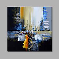 Handgeschilderde Landschap Vierkant,Modern Eén paneel Canvas Hang-geschilderd olieverfschilderij For Huisdecoratie