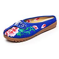 נשים-נעלי אוקספורד-קנבס-נוחות חדשני רצועה אחורית נעליים רקומות--שטח משרד ועבודה שמלה יומיומי ספורט-עקב שטוח