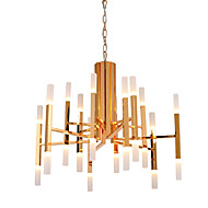 Led Chandelier Modern/Contemporary Painting Feature Gold White LED Designers Pendant Light Living Room Bedroom Study Room/Office Led G4 Bulb Included