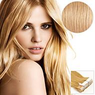 20pcs tape i hårforlengelser gylden 40g 16inch 20inch 100% menneskehår for kvinner