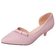 Damen Loafers & Slip-Ons Komfort Slouch Stiefel PU Frühling Herbst Normal Walking Komfort Slouch Stiefel Schleife Niedriger AbsatzSchwarz