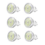 7W GU10 Lâmpadas de Foco de LED 48 leds SMD 2835 Branco Frio 550-600lm 6000